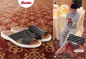 Tun M with his pair of Bata